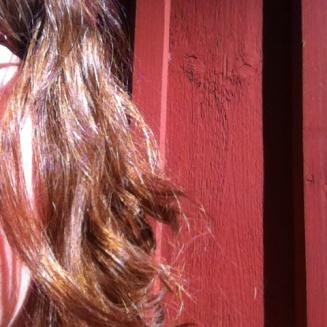 .. hennagefärbtes Haar