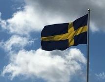 Schwedentag mit Sommerfahne.