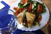 Halloumi und Gemüse aus dem Ofen
