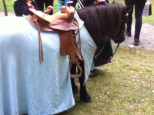 EIn ganz kleines RittterTurnierPferdchen für die Kleinsten zum Ausprobieren