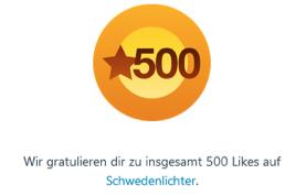 """.. und 500 Likes sind auch schon wieder mehr :) ! Birker würde sagen """"WOW!"""""""