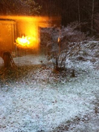 Blick aus dem WoZi in den Wintergarten