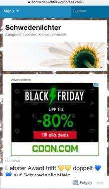 hässliche schwarze Werbung